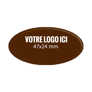 Plaquettes chocolat ovales diamètre 47 x 24 mm sans relief extérieur