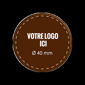 Plaquettes chocolat rondes diamètre 40 mm
