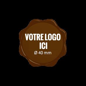 Plaquettes chocolat Label diamètre 40 mm