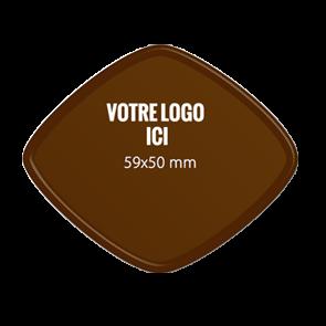 Plaquettes chocolat Losange 59 x 50 mm