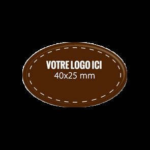 Plaquettes chocolat ovales diamètre 40 x 25 mm
