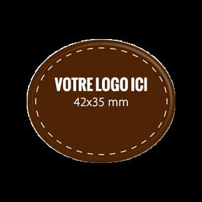 Plaquettes chocolat ovales diamètre 42 x 35 mm