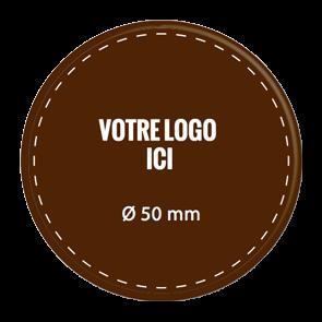 Plaquettes chocolat rondes diamètre 50 mm