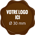 Plaque chocolat à personnaliser label 30 mm