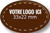 Plaque chocolat à personnaliser ovale 33 x 22 mm