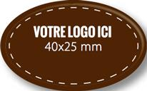 Plaque chocolat à personnaliser ovale 40 x 25 mm