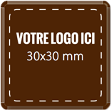 Plaque chocolat à personnaliser carré 30 x 30 mm