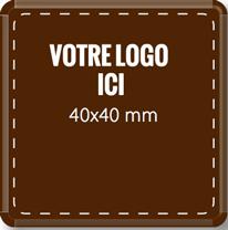 Plaque chocolat à personnaliser carré 40 x 40 mm