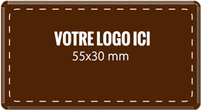 Plaque chocolat à personnaliser rectangle 55 x 30 mm