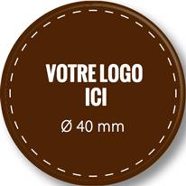 Plaque chocolat à personnaliser ronde 40 mm
