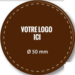 Plaque chocolat à personnaliser ronde 50 mm