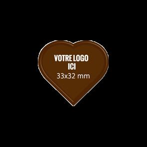 Plaquettes chocolat Coeur 33 x 32 mm