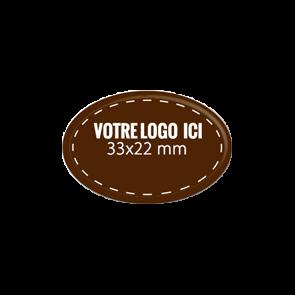 Plaquettes chocolat ovales diamètre 33 x 22 mm