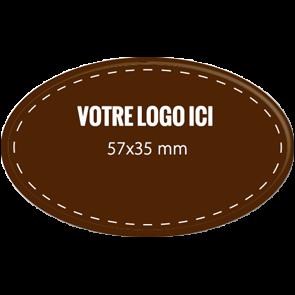 Plaquettes chocolat ovales diamètre 57 x 35 mm