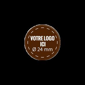 Plaquettes chocolat rondes diamètre 24 mm