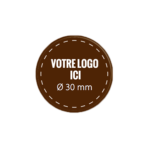 Plaquettes chocolat rondes diamètre 30 mm