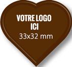 Plaque chocolat à personnaliser coeur 33 x 32 mm