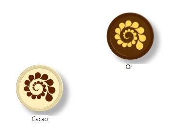 Couleurs d'impression sur chocolat