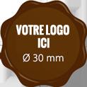 Plaque chocolat à personnaliser label 30 mm