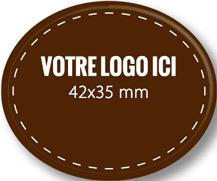 Plaque chocolat à personnaliser ovale 42 x 35 mm