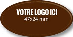Plaque chocolat à personnaliser ovale 47 x 24 mm