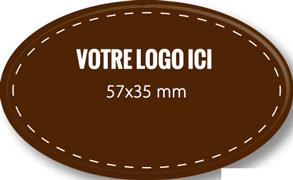 Plaque chocolat à personnaliser ovale 57 x 35 mm