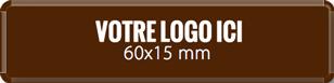 Plaque chocolat à personnaliser rectangle 60 x 15 mm