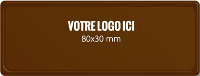 Plaque chocolat à personnaliser rectangle 80 x 30 mm