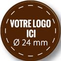 Plaque chocolat à personnaliser ronde 24 mm