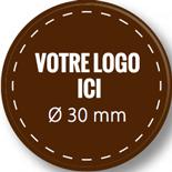Plaque chocolat à personnaliser ronde 30 mm